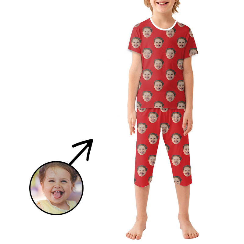 Custom Photo Pajamas For Kids My Loved One's Face