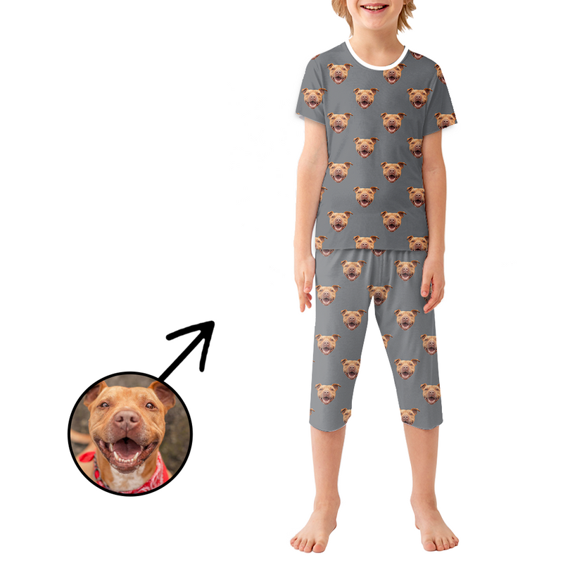 Custom Photo Pajamas For Kids I Love My Baby