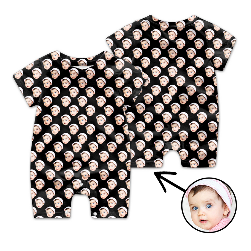 Custom Face Baby Bodysuit My Loved One's Face