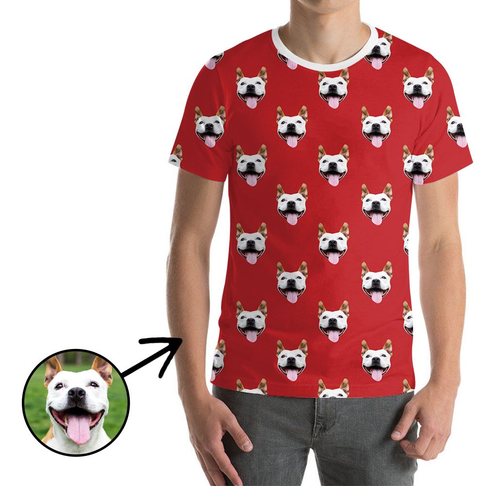 Custom Photo T-shirt Unisex I Love Dog