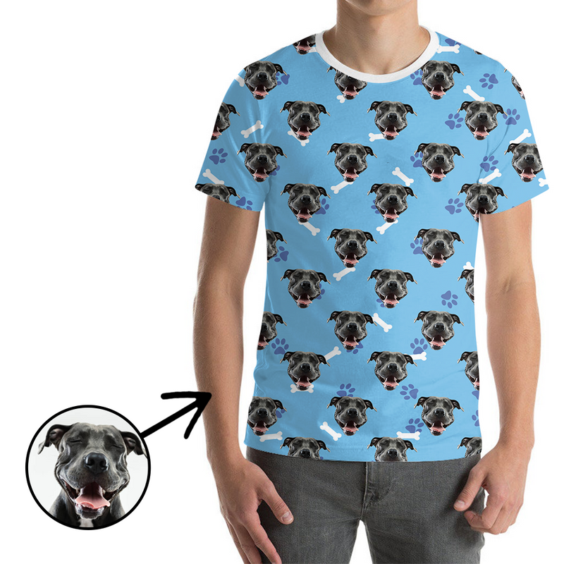 Custom Photo T-shirt Unisex Dog Paw Footprint