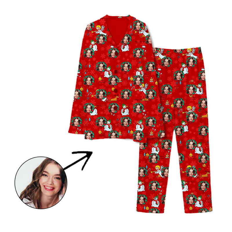 Custom Photo Pajamas Christmas Snowman