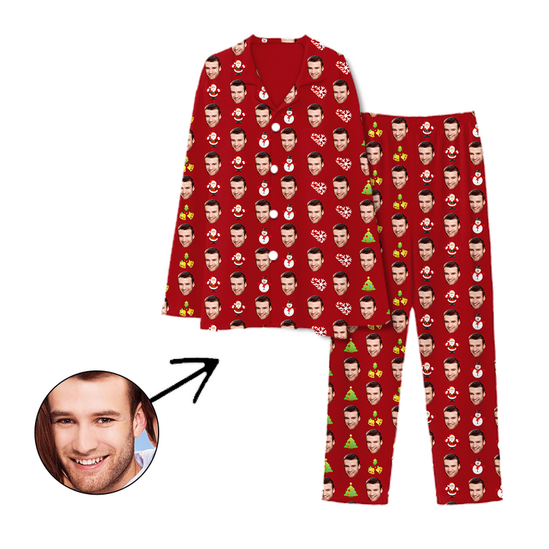 Custom Photo Pajamas Merry Christmas