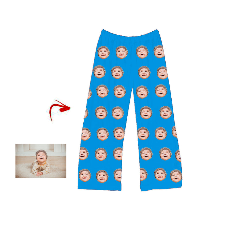 Custom Photo Pajamas Pants I Love My Baby Red For Men