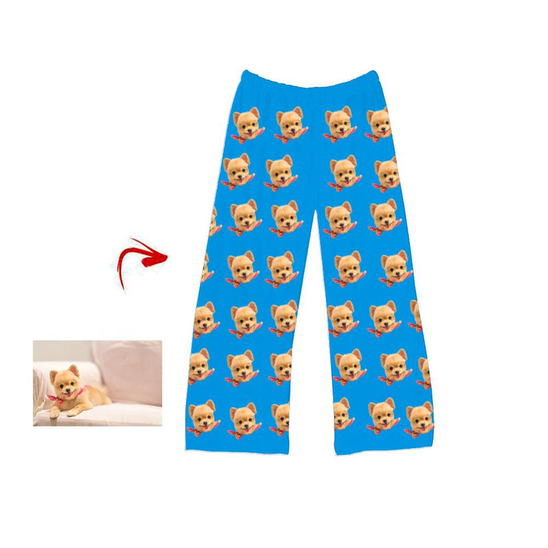 Custom Photo Pajamas Pants Cat Footprint For Men