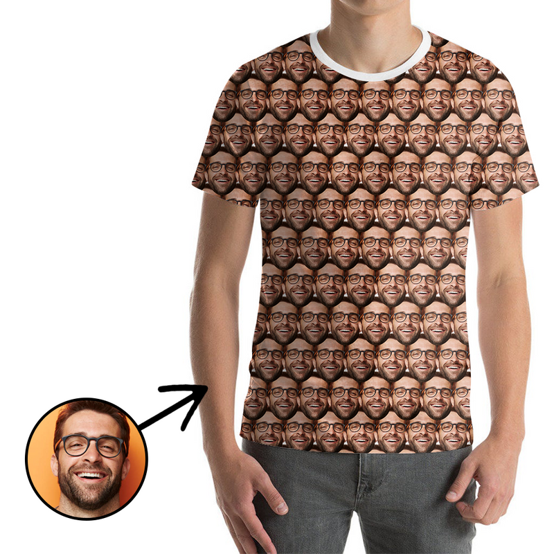 Custom Photo T-shirt Unisex Mash Face