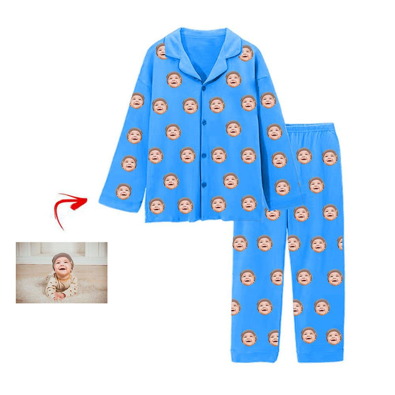 Custom Photo Pajamas I Love My Baby Grey