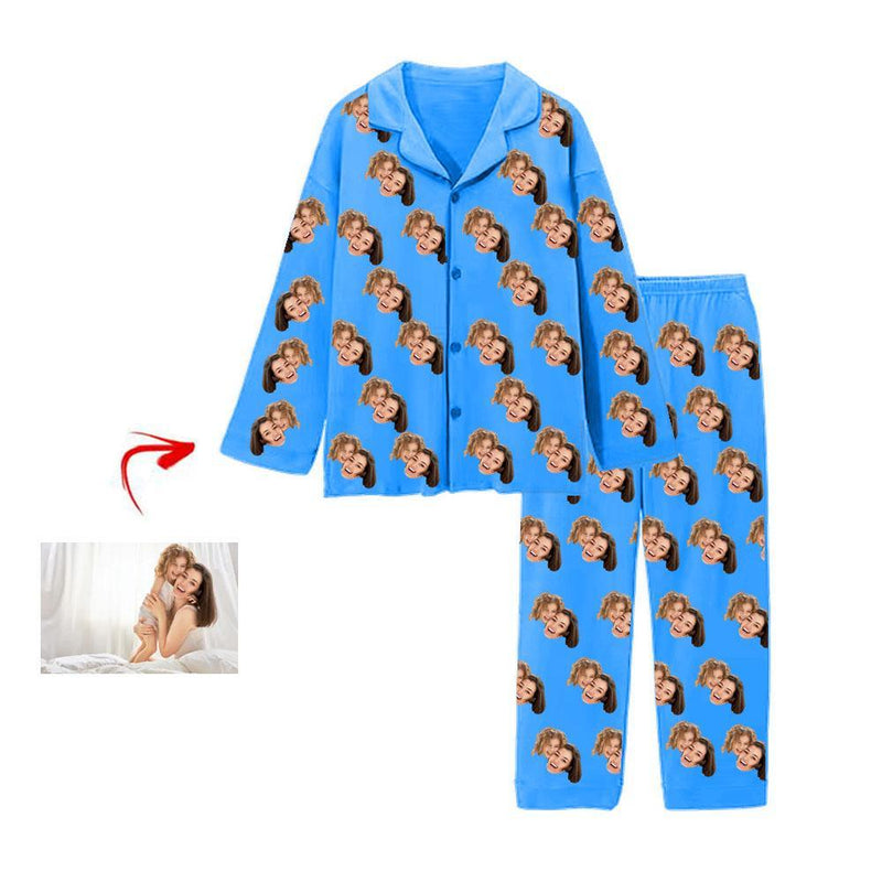 Custom Photo Pajamas I Love My Mom White