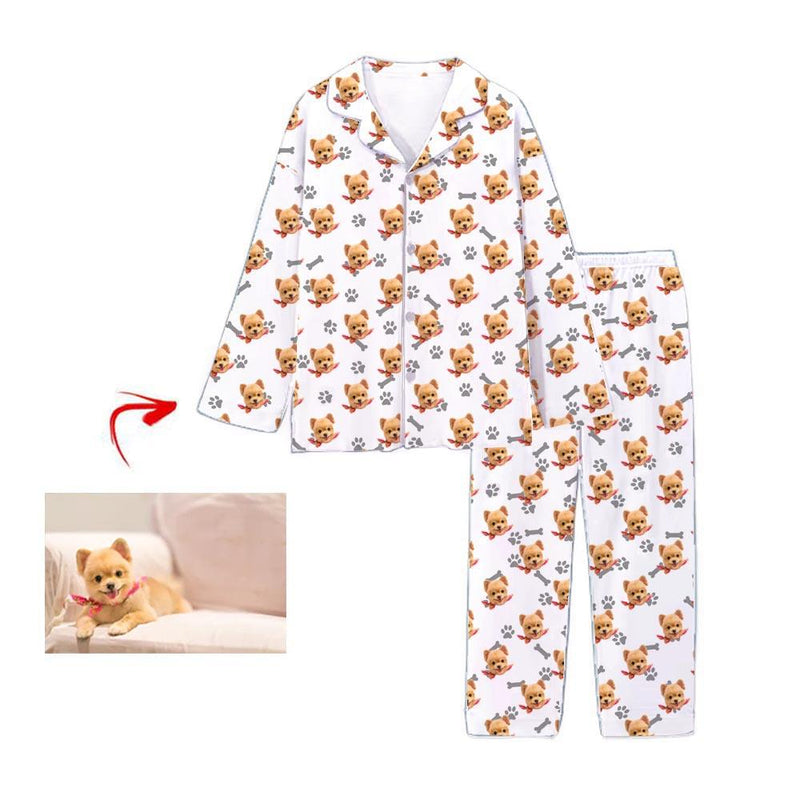 Custom Photo Pajamas Happy You And Me Blue