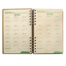 Load image into Gallery viewer, Sustainable 2021-2022 school agenda - recycled paper - Husky
