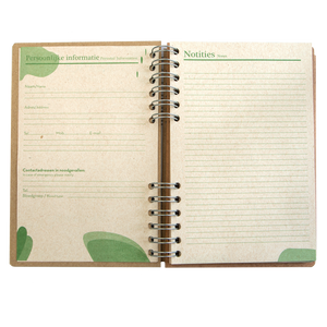 Sustainable 2021-2022 school agenda - recycled paper - Feathers