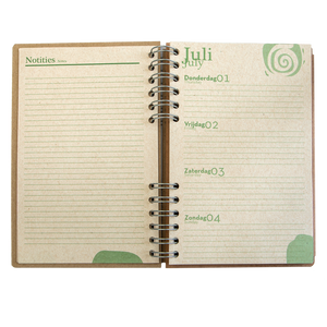 Sustainable 2021-2022 school agenda - recycled paper - Cat