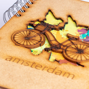 Sustainable journal - Recycled paper - Amsterdam Bicycle