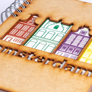 Sustainable journal - Recycled paper - Amsterdam Canal Houses