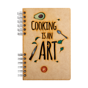 Sustainable journal - Recipebook - Recycled paper - Cooking is an Art