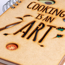 Load image into Gallery viewer, Sustainable journal - Recipebook - Recycled paper - Cooking is an Art
