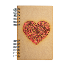 Load image into Gallery viewer, Sustainable journal - Recycled paper - Red Heart