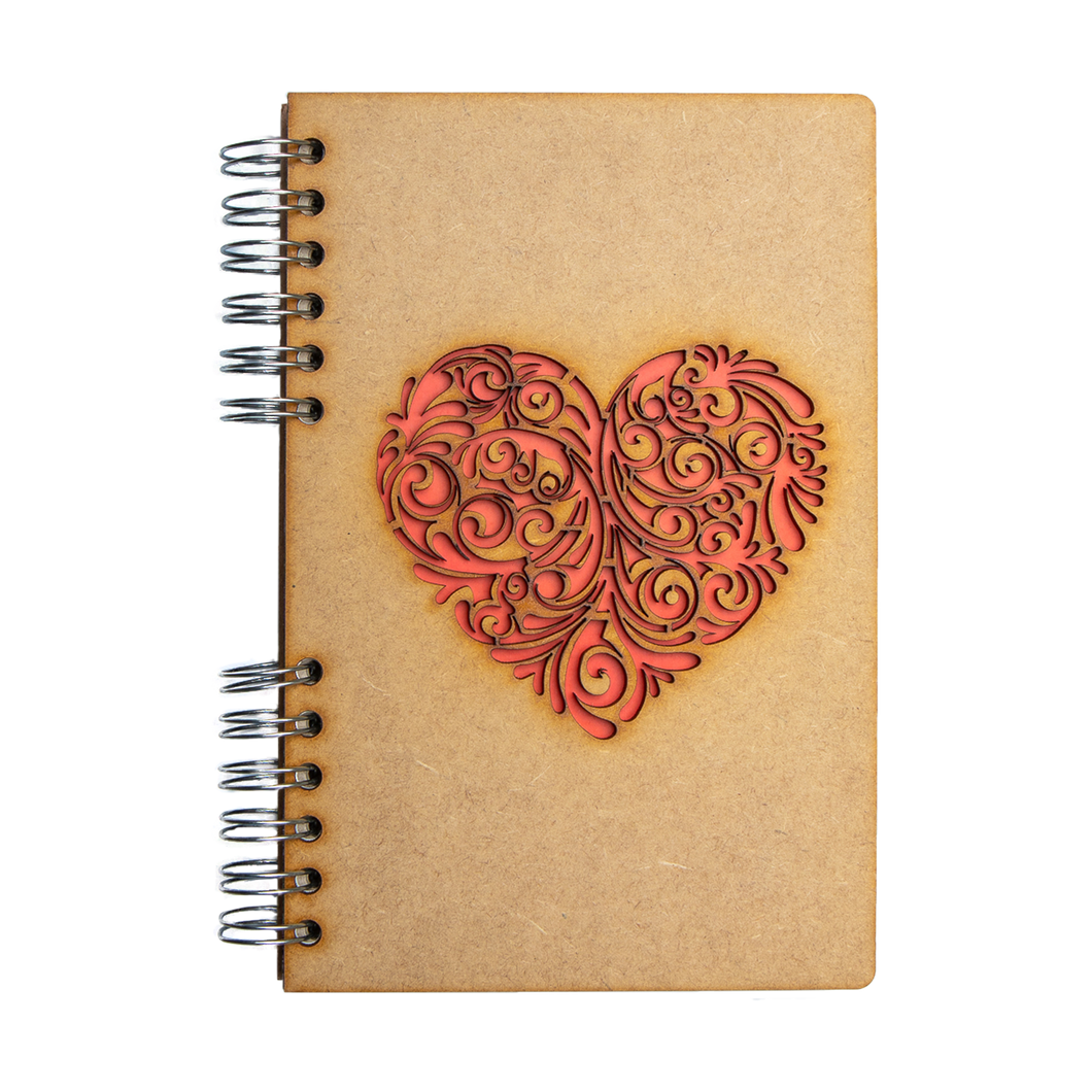 Sustainable journal - Recycled paper - Red Heart