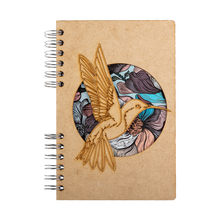 Load image into Gallery viewer, Sustainable journal - Recycled paper - Hummingbird Flower
