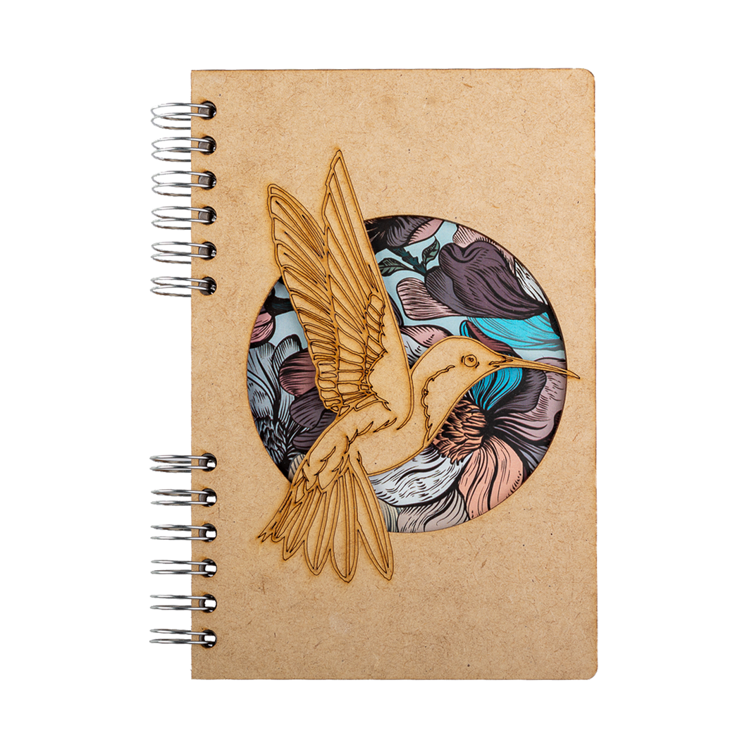 Sustainable journal - Recycled paper - Hummingbird Flower