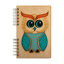 Load image into Gallery viewer, Sustainable journal - Recycled paper - Owl