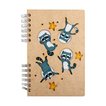 Load image into Gallery viewer, Sustainable journal - Recycled paper - Raccoons in Space