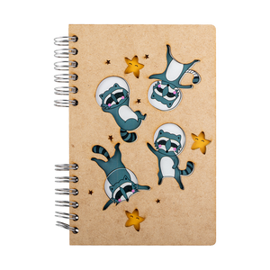 Sustainable journal - Recycled paper - Raccoons in Space