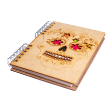 Load image into Gallery viewer, Sustainable journal - Recycled paper - Skull