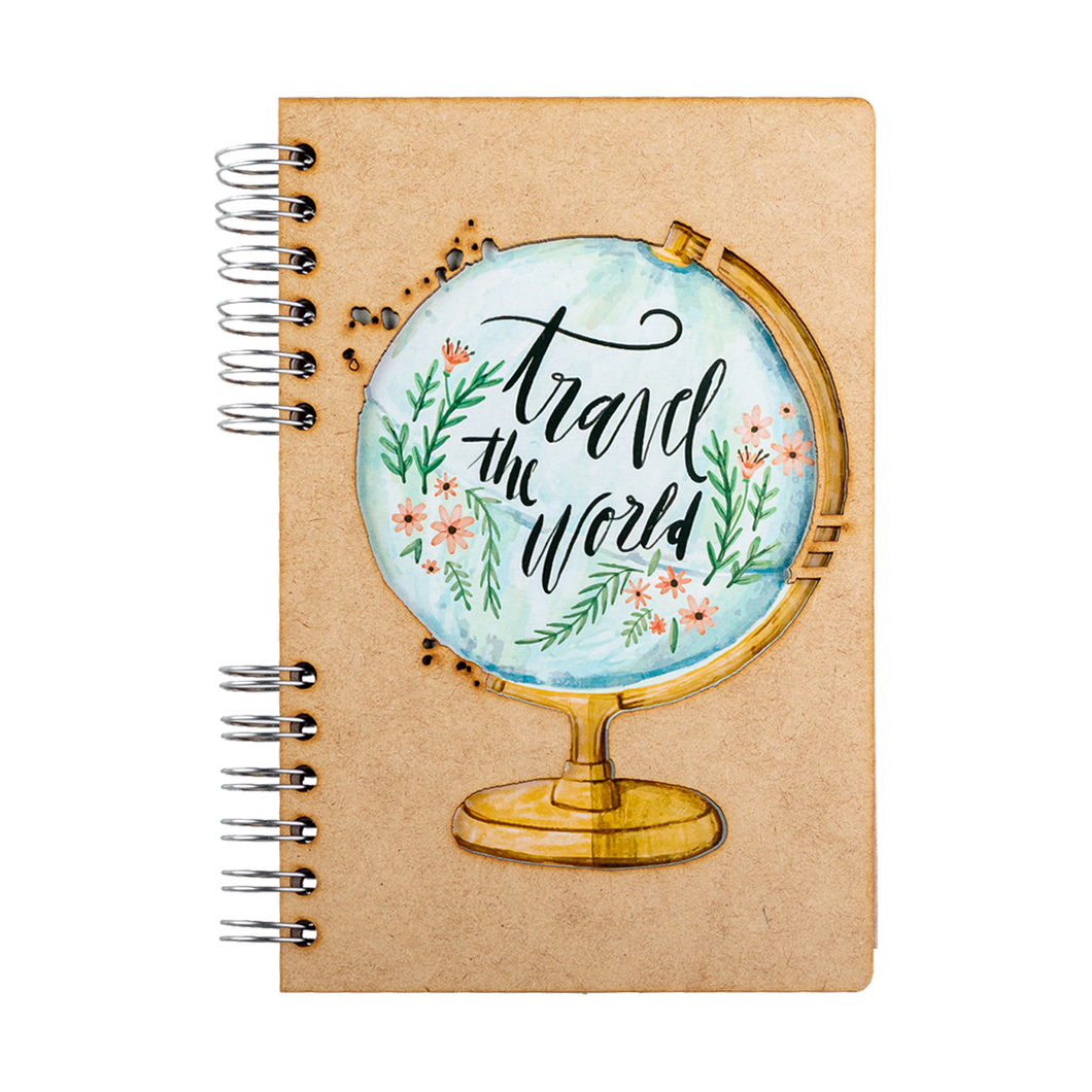 Sustainable journal - Recycled paper - Travel The World
