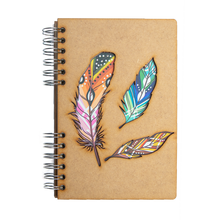 Load image into Gallery viewer, Sustainable journal - Recycled paper - Feathers
