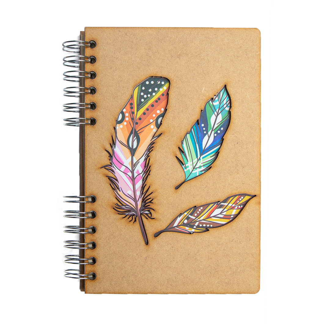 Sustainable journal - Recycled paper - Feathers