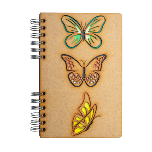 Sustainable journal - Recycled paper - Butterflies