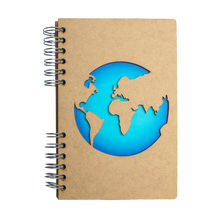 Load image into Gallery viewer, Sustainable travel journal - Recycled paper - World