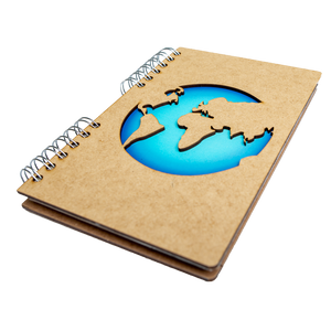 Sustainable travel journal - Recycled paper - World