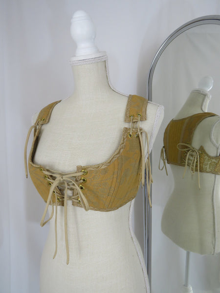XS Gold Short Bodice