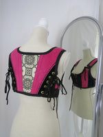LG Black with Pink Short Bodice