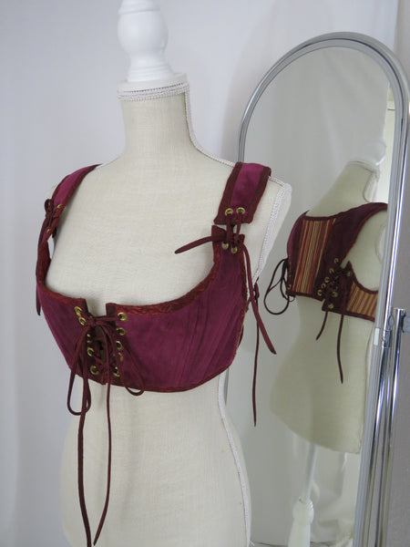 MD Burgundy Short Bodice