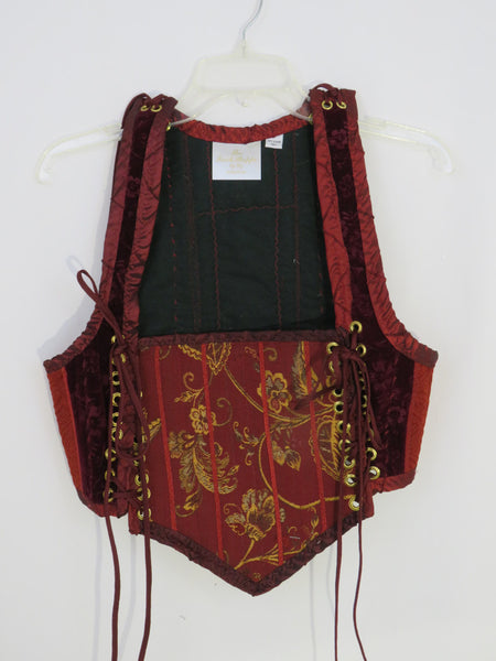 Burgundy Bodice- Large