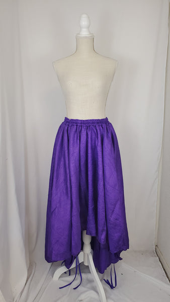 Purple Textured High-Low Convertible Bustle Skirt