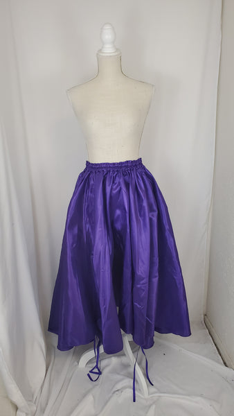 Purple High-Low Convertible Bustle Skirt