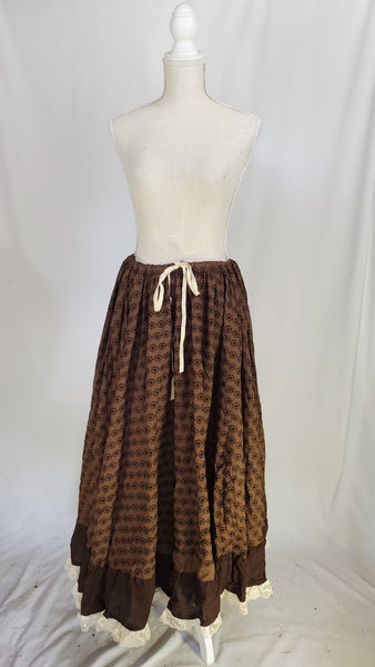 Brown Embroidered Lady Anne Petticoat