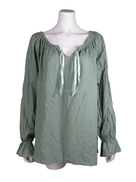 Sage Long Sleeve Peasant Blouse