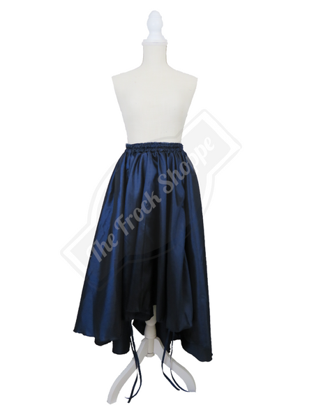 Navy High-Low Convertible Bustle Skirt