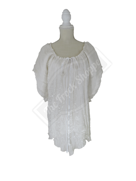 White Shimmer Renee Blouse