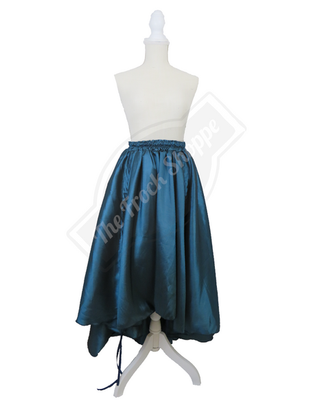 Teal High-Low Convertible Bustle Skirt