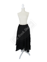 Black Scarf Skirt