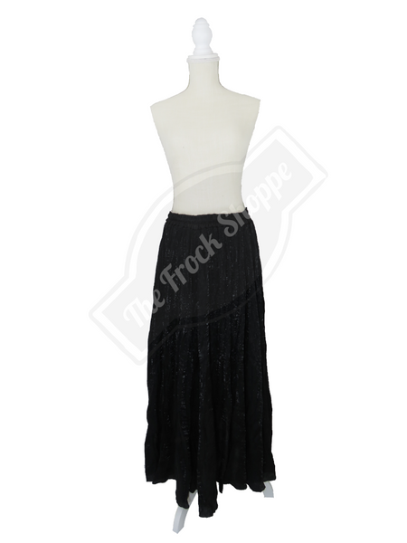 Black Shimmer Catherine Skirt