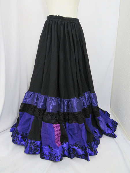 Black and Purple Elizabeth Skirt