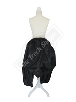 Black High-Low Convertible Bustle Skirt