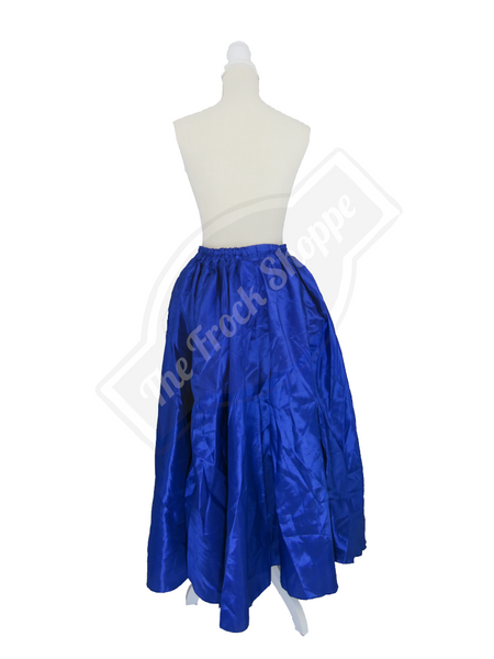 Blue High-Low Convertible Bustle Skirt